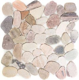 Mosaico SASSI DI FIUME MIX BEIGE piatti