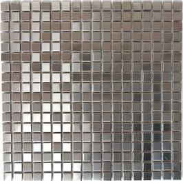 Mosaico 15mm in Metallo Acciaio satinato