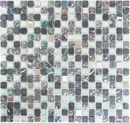Mosaico Marmo Vetro 15mm Crystal Mix Grigio