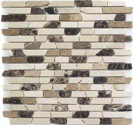 Mosaico Muretto Marmo Emperador Biancone anticato
