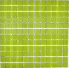 Mosaico VERDE Vetro Trasparente lucido