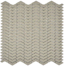 Mosaico Kuba ZIGZAG 10/45 mm TAUPE