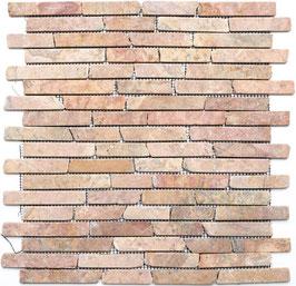 Mosaico Muretto Marmo Rosso Verona anticato