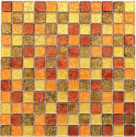 Mosaico Foglia 23mm Oro Mix