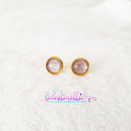 Ohrringe 8mm Cabochon goldig