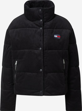 Tommy Jeans Hilfiger TWJ Cord Puffa Jacket, Black, DW0DW11364 BDS