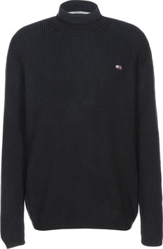 Tommy Jeans Hilfiger Pullover, TJM-High Mock Sweater, Black, DM0DM09445 BDS