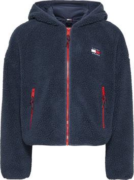 Tommy Jeans Hilfiger TWJ Sherpa Hooded Jacket, Twilight Navy, DW0DW11093 C87