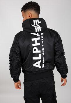 Alpha Industries Bomberjacke, MA-1 ZH Back Print, Black/White 128113/95