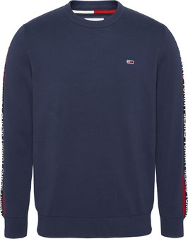 Tommy Jeans Hilfiger Pullover, TJM Sleeve Tape Sweater, Twilight Navy, DM0DM09464 C87