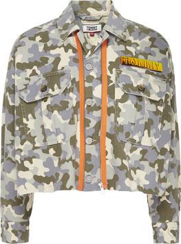 Tommy Jeans Hilfiger Jacke, Cropped Trucker Jacket Camou CWP, DW0DW08151 1CD