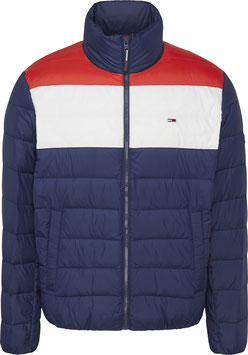 Tommy Jeans Hilfiger Jacke, TJM Color Block Light Down Jacket, Twilight Navy/Multi, DM0DM09516 C87