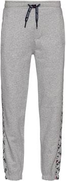 Tommy Jeans Hilfiger Jogginghose, TJM Corp Logo Print Jog Pant, LT Grey HTR, DM0DM07197 P01