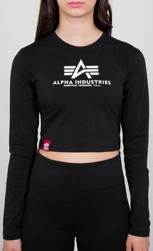 Alpha Industries Basic Cropped LS WMN, Black, 116076/03