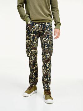 Tommy Jeans Hilfiger Cargohose, TJM Scanton Cargo Pant, Green Camo Print, DM0DM07827 0H7