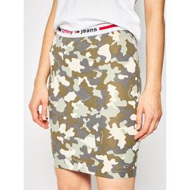 Tommy Hilfiger, TJW Camo Bodycon Skirt, Camo Print / Olive Tree, DW0DW08301 0IL