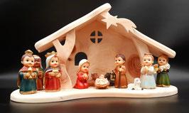 Bespielbare Weihnachtskrippe aus Zirbenholz für Kinder!