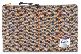 Herschel Supply - Zipper POUCH black Polka TWEED