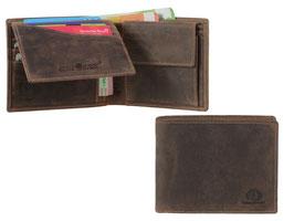 Greenburry Leder RFID Geldbörse 1705 Antik Braun
