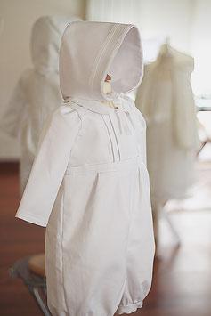 Bonnet de baptême Leo coton blanc