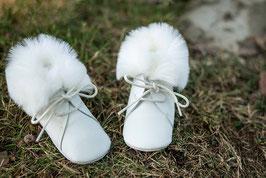 Chaussons bébé mixte hiver cuir fausse fourrure