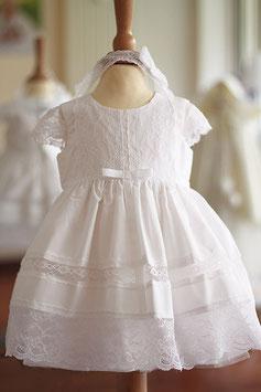Bandeau bébé fille dentelle française élastique