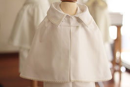 Cape de baptême Garçon coton blanc cassé Oscar