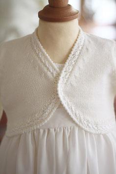 Gilet laine blanche Mila