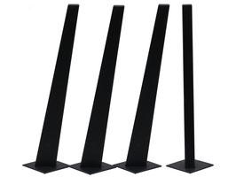 Tischbein Buche schwarz lackiert