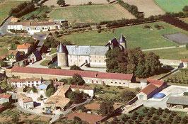 Carte souvenir - Vue aérienne du château de Saveilles   (1990)