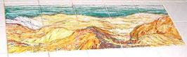 """""""Duinen"""", tegeltableau van 5x2 tegels (15x15). Je waant je in de duinen."""