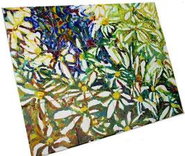 """""""Margrieten"""", tegeltableau 4x3 tegels (15x15), zeer schilderachtig tableau, vol van kleur. Extra rand erbij maken kan altijd!"""
