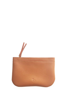 Zip coin purse 'A TUE TÊTE' single tan