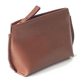 Zip coin purse 'L' ACROBATE' brown