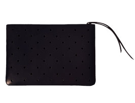 Zip clutch 'À CLAIRE-VOIE' black M