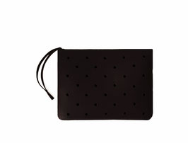 Zip clutch 'À CLAIRE-VOIE' black S