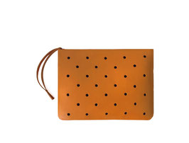 Zip clutch 'À CLAIRE-VOIE' tan S