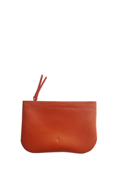 Zip coin purse 'A TUE TÊTE' single red