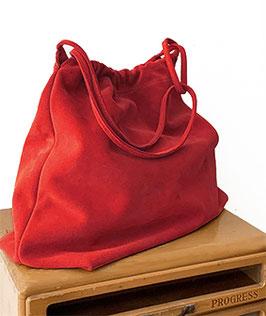 SHOPPING BAG  'A BIENTÔT' RED