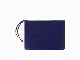 Zip clutch 'À CLAIRE-VOIE' bleu roi S