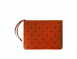 Zip clutch 'À CLAIRE-VOIE'  red S