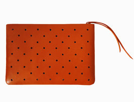 Zip clutch 'À CLAIRE-VOIE' red M