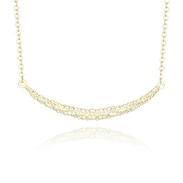 Collier Brass Gold Plated 42+5 cm Bolletjes