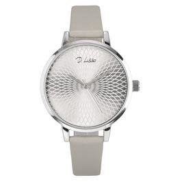 Horloge zilver + grijs