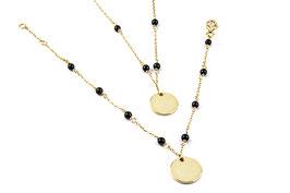 Armband en collier met zwarte agaat