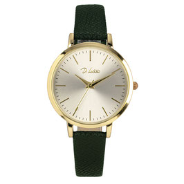 Horloge goud + groen