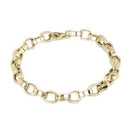 Sterling zilveren schakelarmband gold plated Pamela