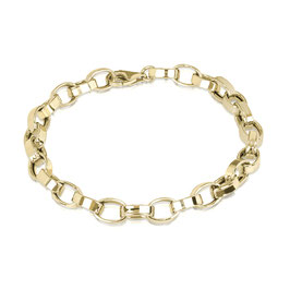 Sterling zilveren schakelarmband gold plated