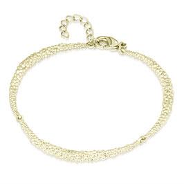 Armband Brass Gold Plated Bolletjes