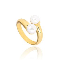 Sterling zilveren ring goldplated  Yasmin